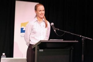 Rebecca Campbell at the SEC launch 2013.