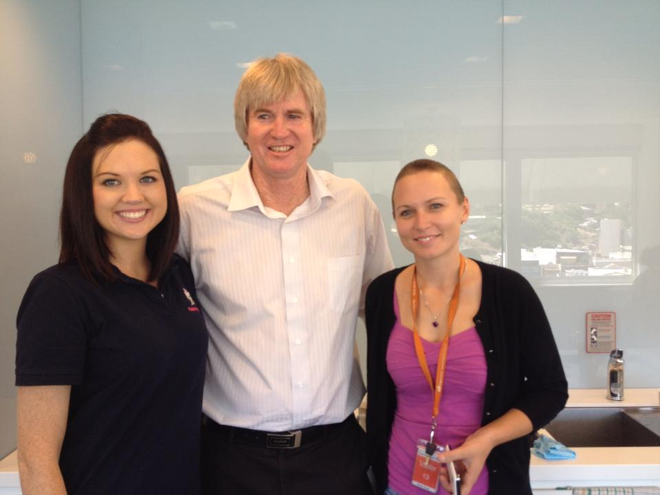 Hairdresser Katie, City Councillor Ray Gartrell, Katy