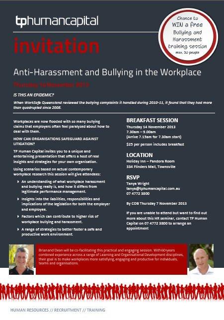 HR Invite - Bullying